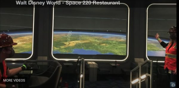 The view from Space 220. Photo credits (C) Disney Enterprises, Inc. All Rights Reserved