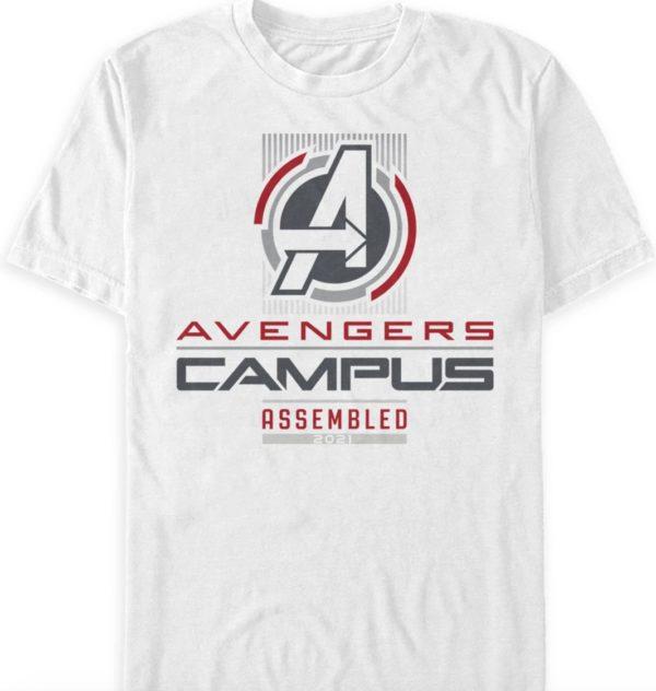 "Avengers Logo ""Assembled 2021"". Disney California Adventure On Back Photo credits (C) Disney Enterprises, Inc. All Rights Reserved"