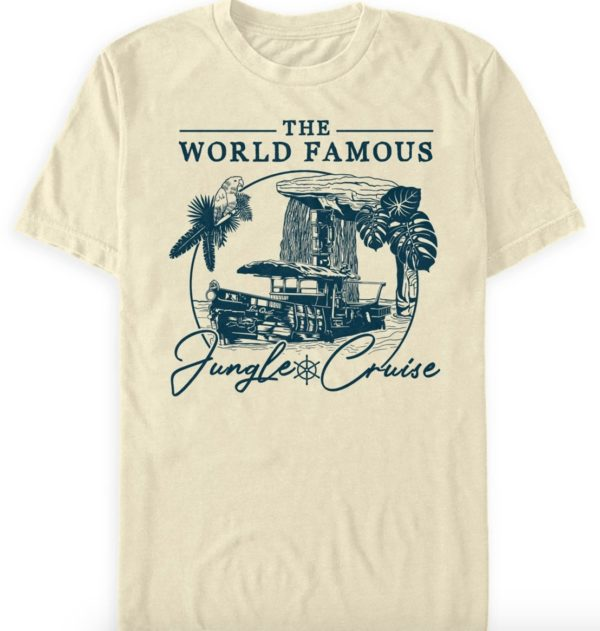 The World Famous Jungle Cruise Illustration T-Shirt.  Photo credits (C) Disney Enterprises, Inc. All Rights Reserved