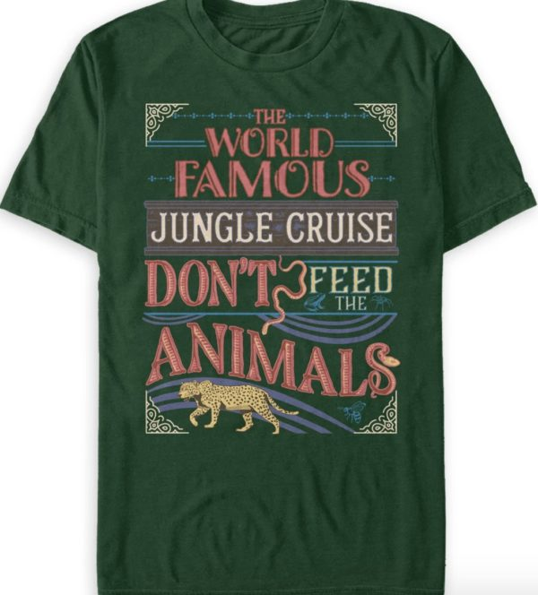 The World Famous Jungle Cruise Animals T-Shirt.  Photo credits (C) Disney Enterprises, Inc. All Rights Reserved