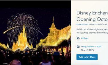 Main Landing Page for Walt Disney World's Disney Enchantment.