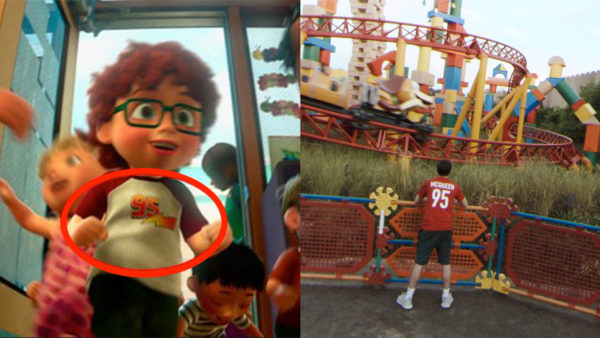"Another guest can be spotted sporting a ""McQueen 95"" shirt while standing in front of Slinky Dog Dash. Photo credits (C) Disney Enterprises, Inc. All Rights Reserved"