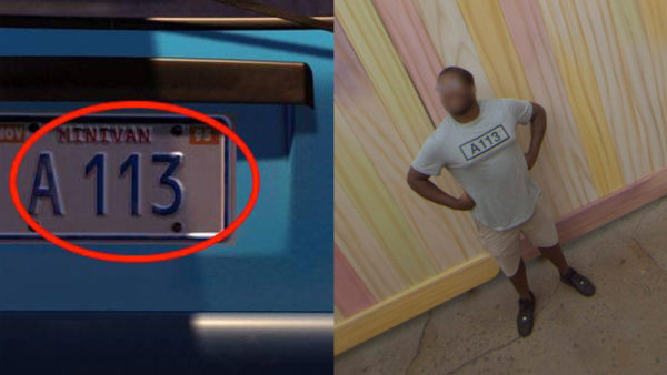 A113 also appears in every Pixar film in a variety of forms including A-113, A1-13, or A11-3. The sequence is an allusion to a classroom at California Institute of the Arts where famous Pixar artists including John Lasseter, Tim Burton, and Brad Bird took graphic design and character animation classes. The code can also be found in Disney movies and Simpsons, Family Guy, Rugrats, South Park, and American Dad! episodes and in video games. Photo credits (C) Disney Enterprises, Inc. All Rights Reserved