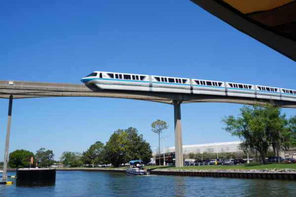 The monorail is one kind of exclusive transportation that makes the Deluxe Resort Hotels more desirable.