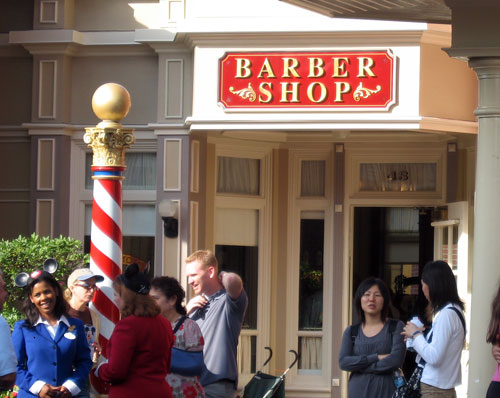 Get an old-fashioned experience at the Harmony Barber Shop on Main Street USA!