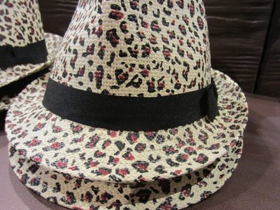 Nice animal skin pattern hat.