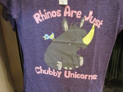 Fun shirts - like this rhino shirt.