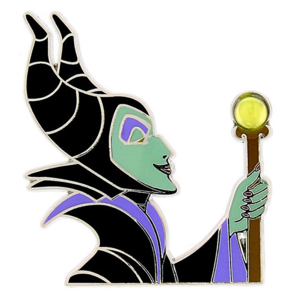 Sleeping Beauty's Maleficent trading pin. Photo credits (c) Disney Enterprises, Inc. All Rights Reserved