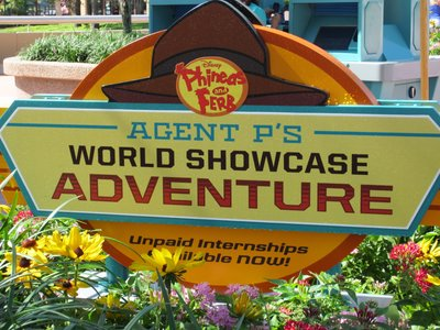 Agent P World Showcase Adventure Game
