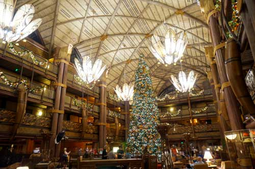 The main event, of course, is the amazing and huge Christmas tree in the lobby. Wow!