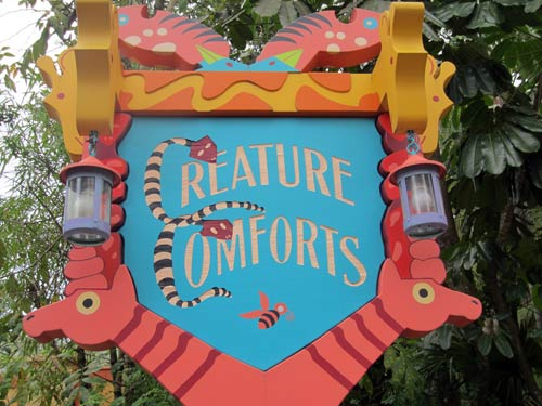 Creature Comforts sign - all about animals with spots or stripes.
