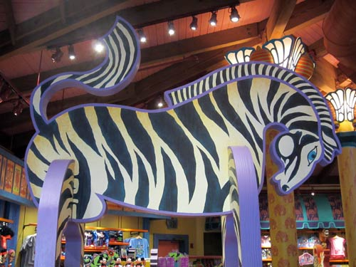Zebra with stripes in Creature Comforts.