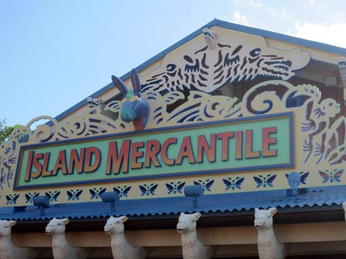 Sign for Island Mercantile - all about working animals.