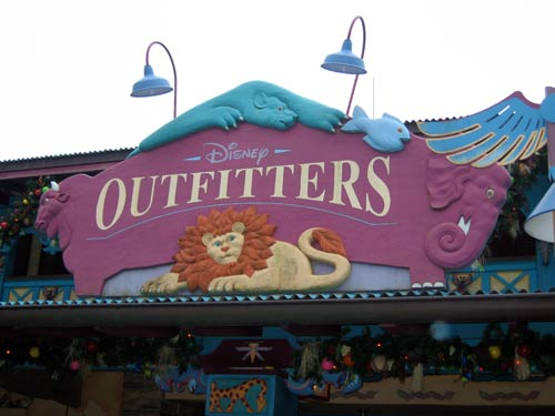 Disney Outfitters sign - all about animals who travel in groups.
