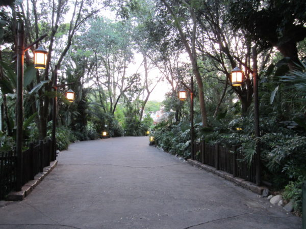The walkways in Disney's Animal Kingdom were created from molds then distressed with power washers.