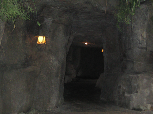 Here's a cave you can explore in The Oasis!