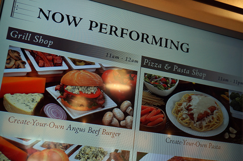 "Check out the ""Now Performing"" menu for a sneak peak at what is being served at the time."