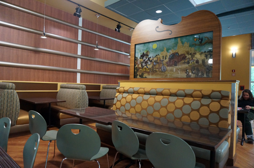 Sit back and enjoy your food in the comfortable, new seating area!