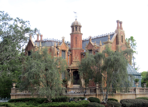 Legend says that Haunted Mansion was built on an Indian burial ground, but don't worry- there are only happy haunts here.
