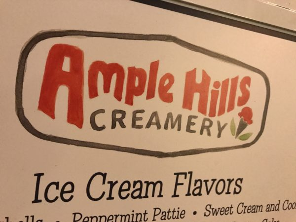 Ample Hills featured high-end ice cream with creative names.