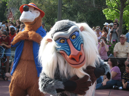 Rafiki has his own section of the park.