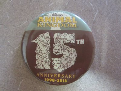Everyone entering the park received a 15th Anniversary button.
