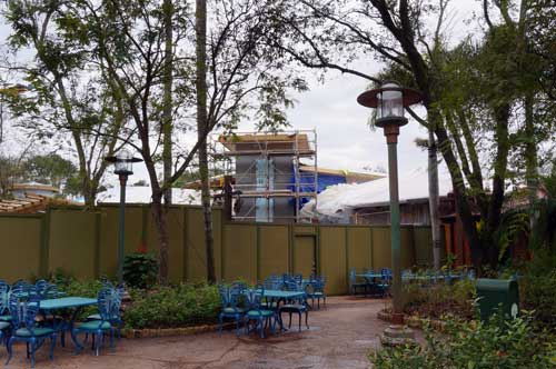 Tiffins restaurant is going up quickly on the pathway that will eventually lead to Pandora.
