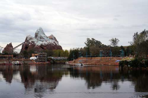 The Rivers of Light viewing areas are changing the look of the park.