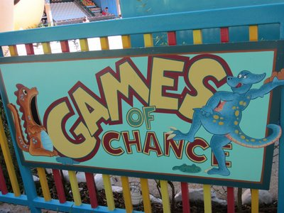 The Games of Chance literally call out for your attention.