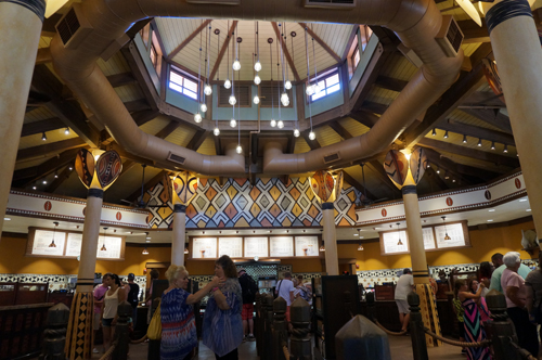 The interior is bright and open.  It feels much more spacious than the location in the Magic Kingdom.