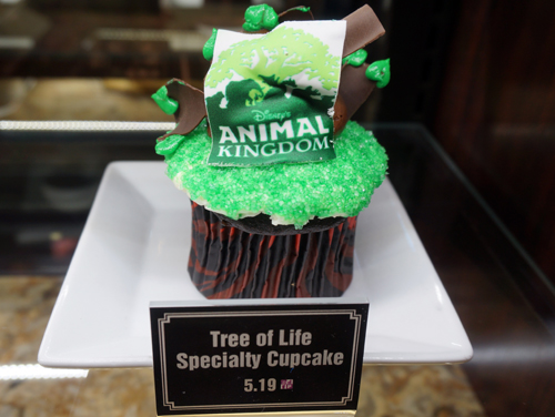 This location carries a few unique pastry treats themed to the park - like this Tree of Life cupcake.