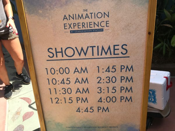 Showtimes are scheduled throughout the day.