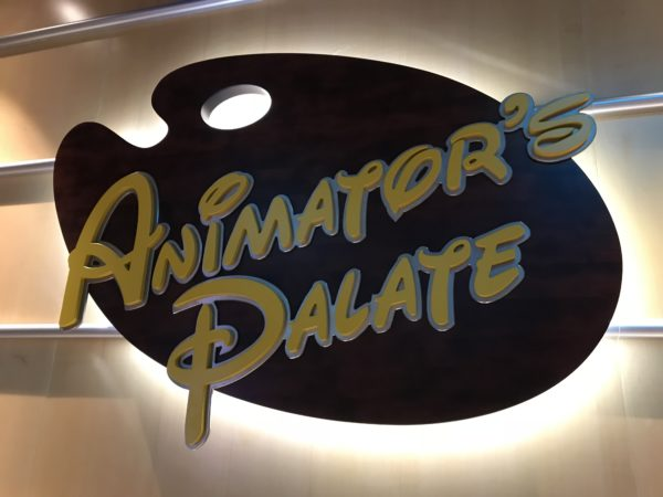 Let's take a look around Animator's Palate on the Disney Dream.