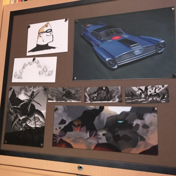 Some of the art shows how animation progresses from sketches to what we see in the movies.