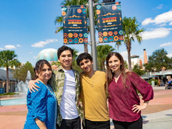Anthony enjoys Disney Springs with this family. Photo credits (C) Disney Enterprises, Inc. All Rights Reserved
