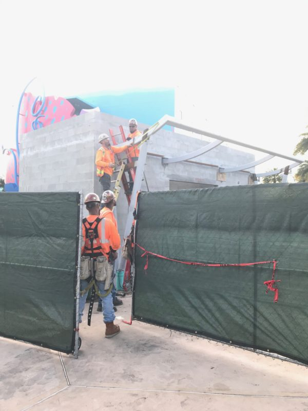 These nice men told me they're working on the restrooms for the nearby Skyliner! This is on the Art of Animation side just before crossing the bridge pictured above.