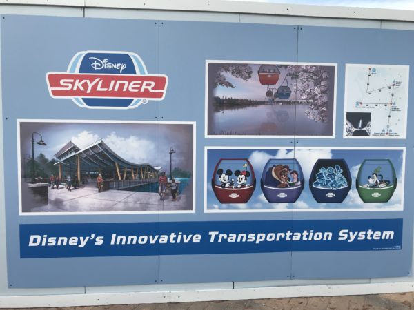 When complete, the Disney Skyliner will connect Pop Century, Art of Animation, Caribbean Beach, and the planned DVC Disney Riviera Resorts with Epcot and Disney's Hollywood Studios.