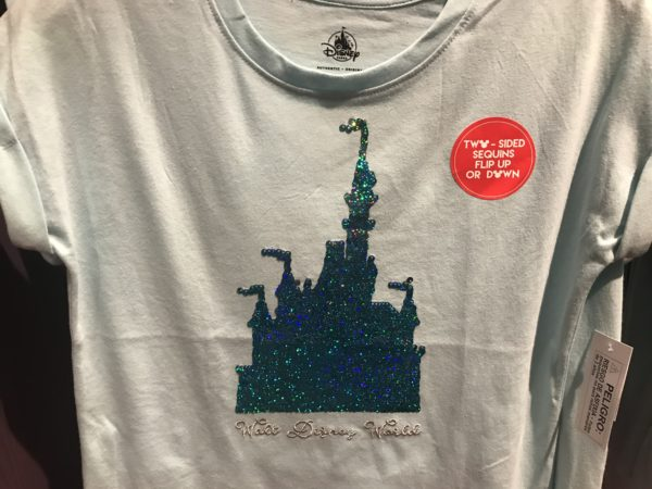 This Cinderella Castle sequined design flips! $24.99