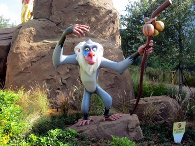 A colorful Rafiki watches over the Pride Lands.
