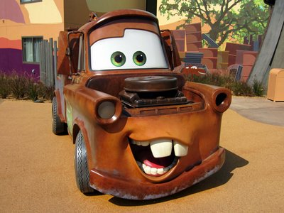 If you break down along the way, Tow Mater will be there to help.