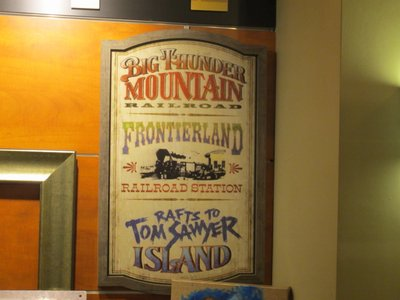 Frontierland sign you can buy. Looks just like the one in the park.