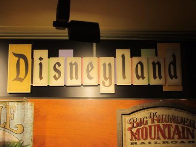 Disneyland sign.  Yes, you can buy this at Disney World.