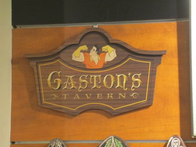 The Gaston's Tavern sign that you can buy.  No antlers or steins.
