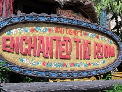 The real Tiki Room in Adventureland.