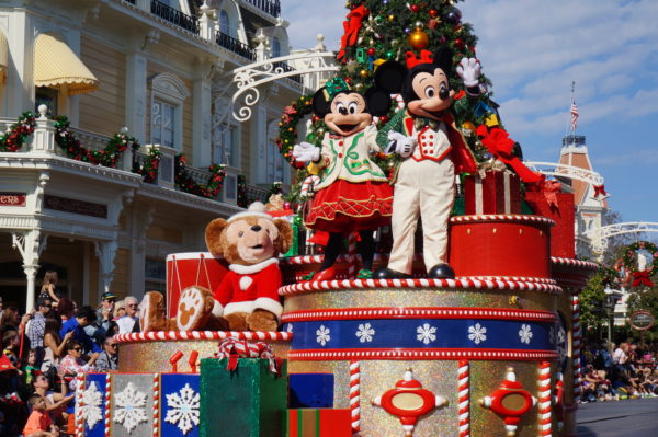 Parades in Disney World are always fun to see! There are even special parades for holidays like Christmas!