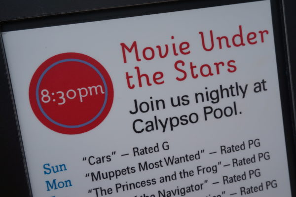 Most Disney Resort Hotels show movies under the stars every night!