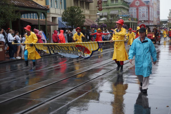 It rains so often in Disney World that they have a parade for that. It's called the Rainy Day Cavalcade.