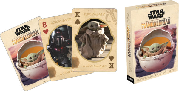Mandalorian playing cards will spice up your next game of rummy.  Photo credits (C) Disney Enterprises, Inc. All Rights Reserved
