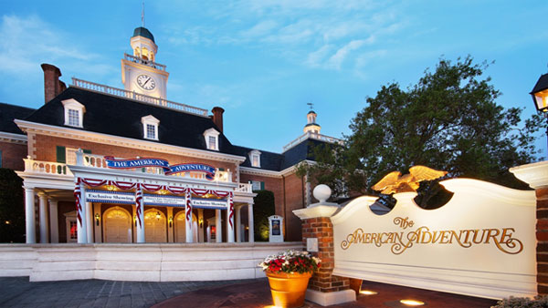 How fun to get to peek behind the scenes at The American Adventure show in Epcot's America Pavilion.