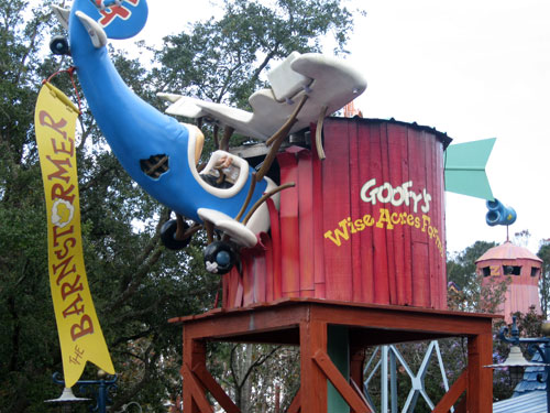 The original barnstormer was a flying lesson given by Goofy, but it looks like something went awry.